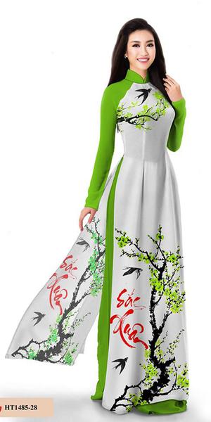 Spring Green Ao Dai