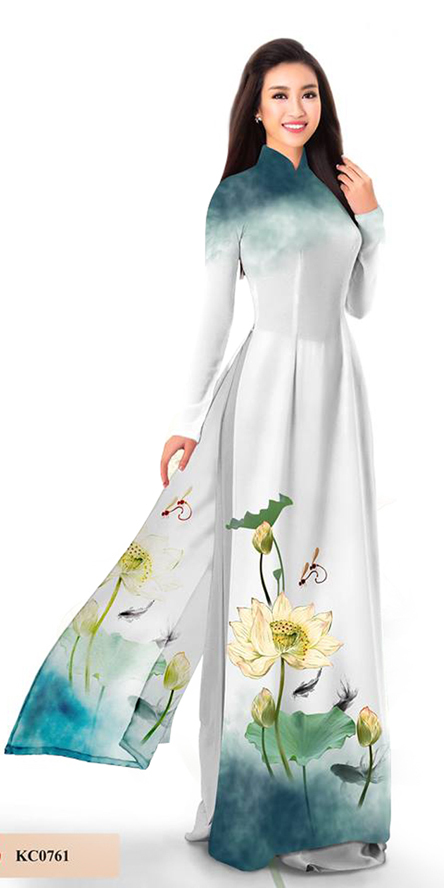 Summer White Ao Dai