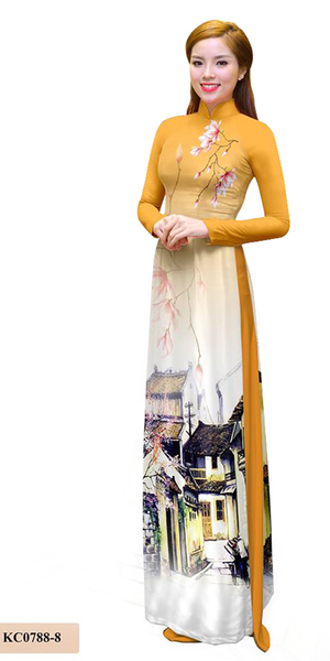 Summer Orange Ao Dai