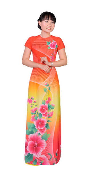 Sunrise Orange Ao Dai